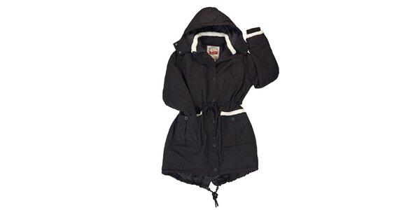 Dámska čierna bunda s kapucňou Urban Surface