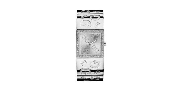 Dámske náramkové hodinky v striebornej farbe Guess