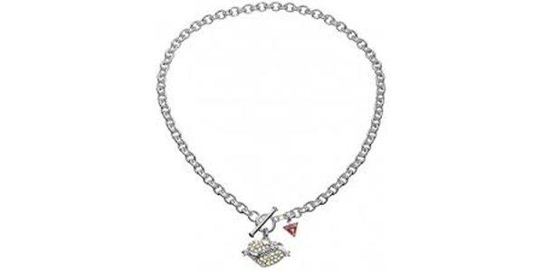 Dámsky náhrdelník so srdiečkom Guess