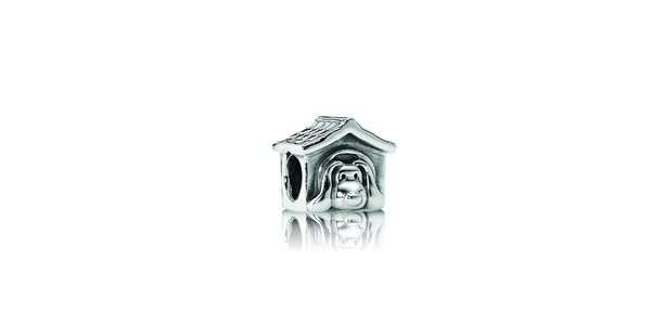 Strieborný prívesok Pandora psia búda