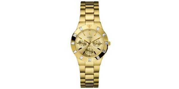Dámske zlato tónované hodinky Guess