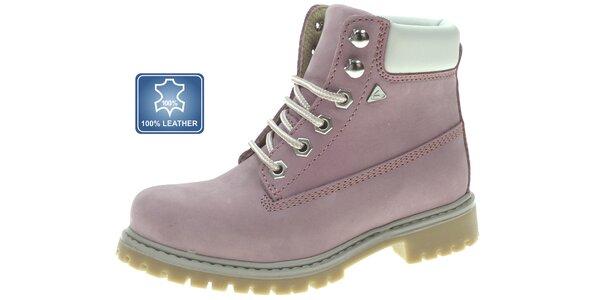 Dámske pastelovo ružové kotníkové topánky Beppi