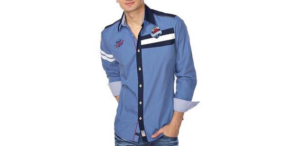 Pánska blankytno modrá košeľa M. Conte