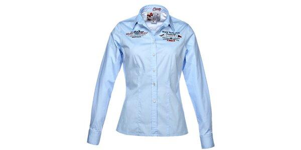 Dámska svetlo modrá košeľa s dlhým rukávom M. Conte