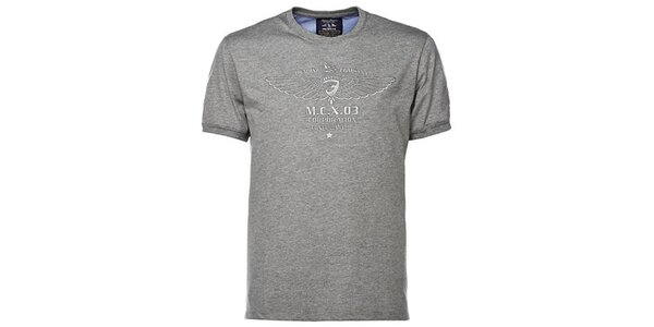 Pánske šedé tričko s výšivkou M. Conte
