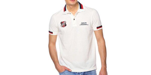 Pánske krémovo biele polo tričko M. Conte