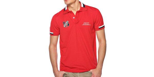 Pánske červené polo tričko M. Conte