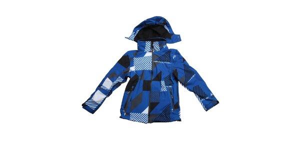 Detská modrá vzorovaná bunda Peak Mountain