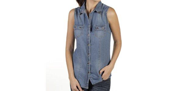 Dámska džínsová košeľa bez rukávov New Caro