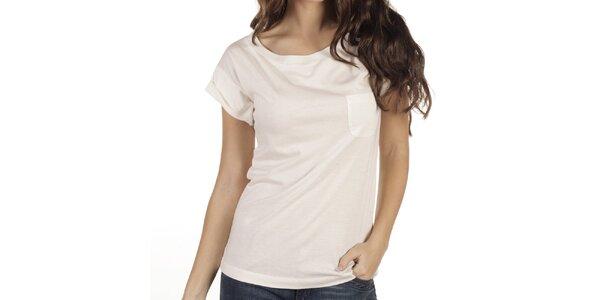 Dámske krémovo biele tričko New Caro