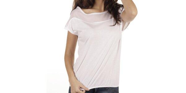Dámske krémové tričko s krátkym rukávom New Caro