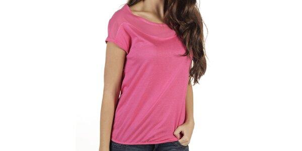 Dámske sýto ružové tričko s krátkym rukávom New Caro