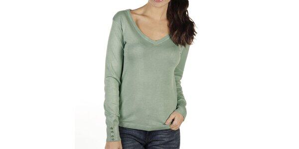 Dámsky zelenkavý sveter New Caro