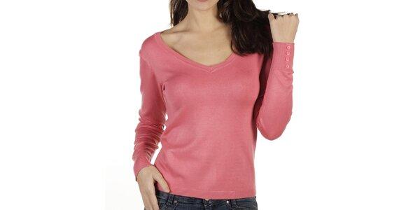 Dámsky ružový sveter New Caro
