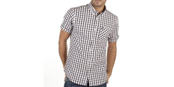 Pánska kockovaná košeľa s krátkym rukávom New Caro
