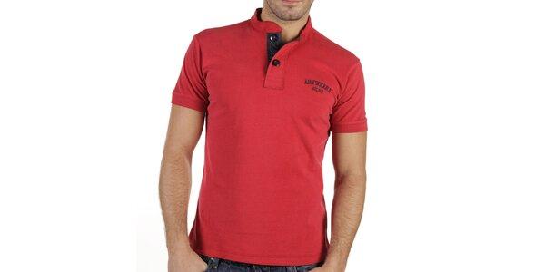 Pánske červené tričko s gombíkmi New Caro