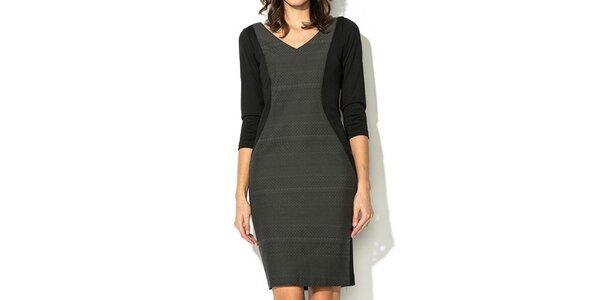 Dámske čierno-šedé šaty Eccentrica