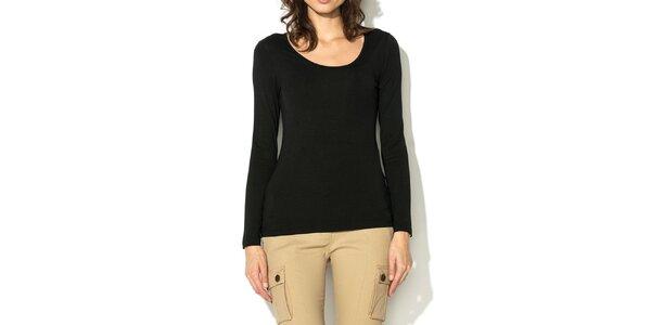 Dámske čierne tričko s dlhým rukávom Eccentrica