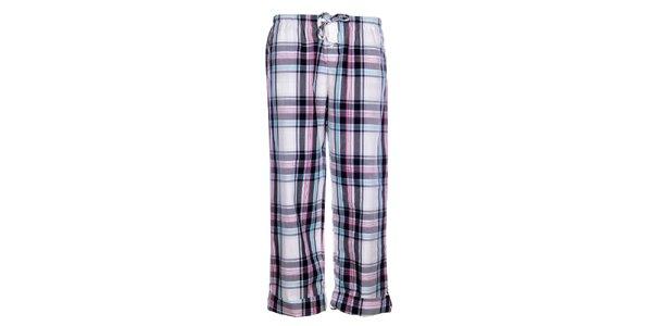 Dámske biele pyžamové nohavice DKNY s kockovaným vzorom