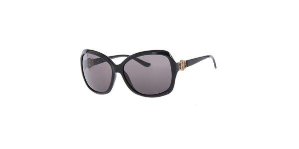 Dámske čierne slnečné okuliare s čiernymi sklami Guess