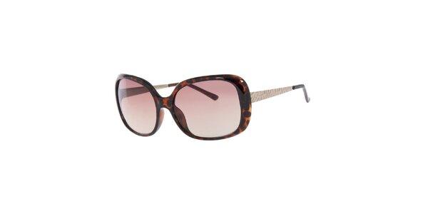 Dámske žíhané oválne slnečné okuliare Guess