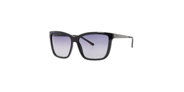 Dámske čierne hranaté slnečné okuliare Guess