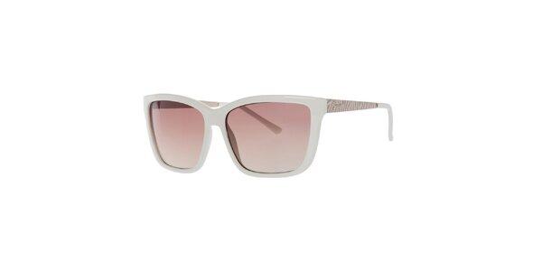 Dámske biele hranaté slnečné okuliare Guess