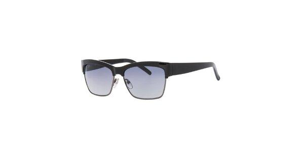 Dámske čierne retro slnečné okuliare Guess
