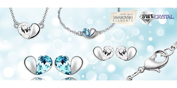 Súprava šperkov so Swarovského komponentmi