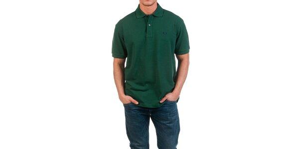 Pánske tmavo zelené polo tričko Fred Perry