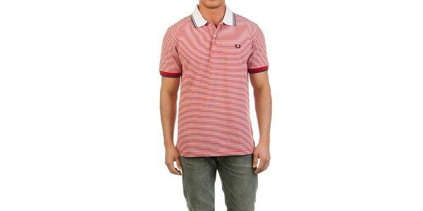 Pánske červeno prúžkované polo tričko Fred Perry