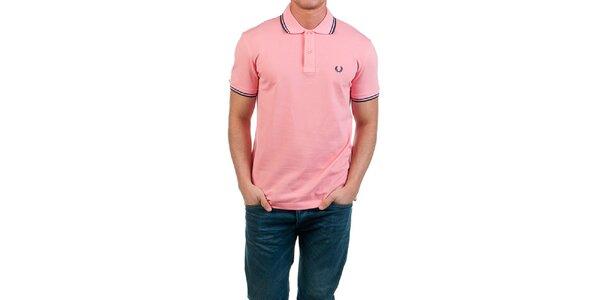 Pánske ružové polo tričko Fred Perry