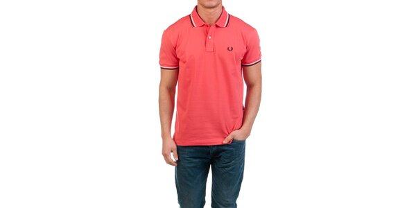 Pánske korálovo červené polo tričko Fred Perry