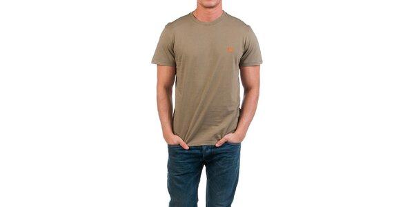 Pánske khaki tričko s potlačou na chrbáte Fred Perry
