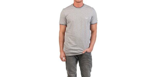 Pánske šedo melírované tričko Fred Perry