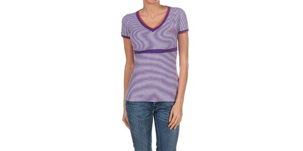 Dámske fialovo prúžkované tričko Fred Perry