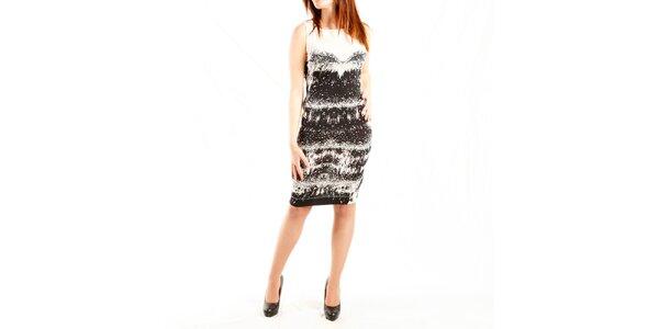 Dámske čierno-biele šaty Just Cavalli s potlačou