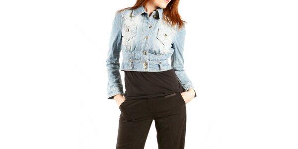 Dámska svetlo modrá džínsová bunda Just Cavalli