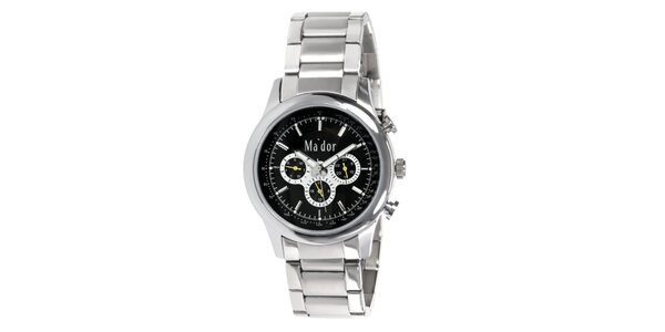 Pánske športové hodinky s čiernym ciferníkom Ma´dor