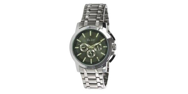 Pánske športové hodinky s olivovým ciferníkom Ma´dor