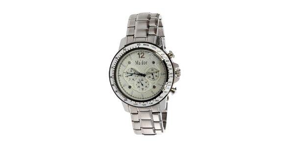 Pánske hodinky s analogovým svetlým ciferníkom Ma´dor