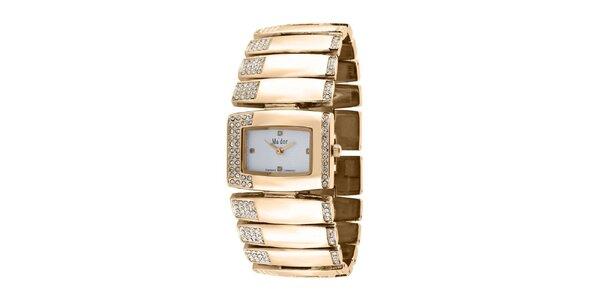 Dámske zlaté náramkové hodinky Ma´dor
