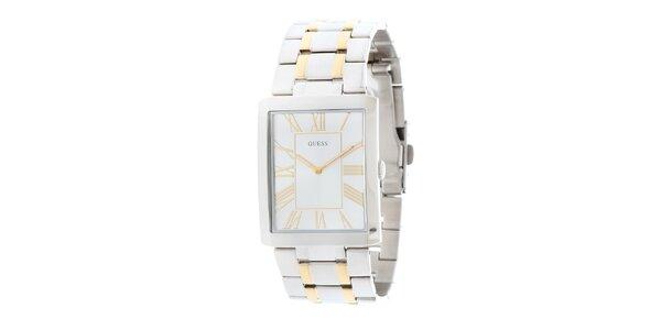 Pánske elegantné oceľové hodinky Guess