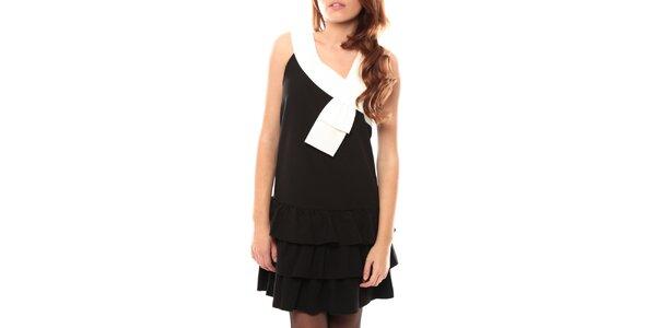 Dámske čierne šaty s krémovým lemom My Little Poesy