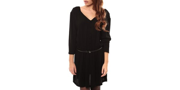 Dámske čierne šaty s opaskom My Little Poesy