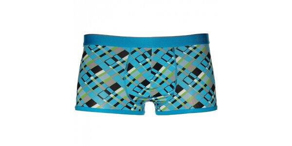 Pánske tyrkysovo modré boxerky Calvin Klein Underwear s potlačou