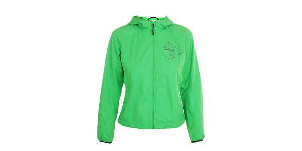 Dámska ľahká hráškovo zelená bunda s kapucňou Hannah