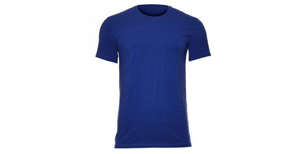 Pánske elastické tričko Calvin Klein Underwear v slivkovej farbe