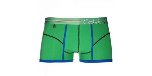 Pánske veselé zelené boxerky Calvin Klein Underwear