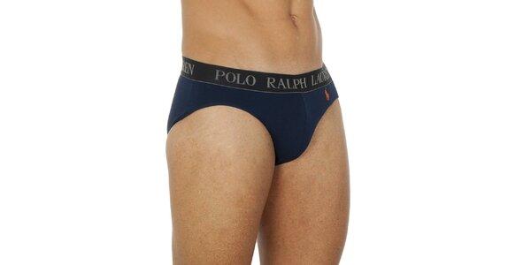 Pánske tmavé modré slipy Ralph Lauren